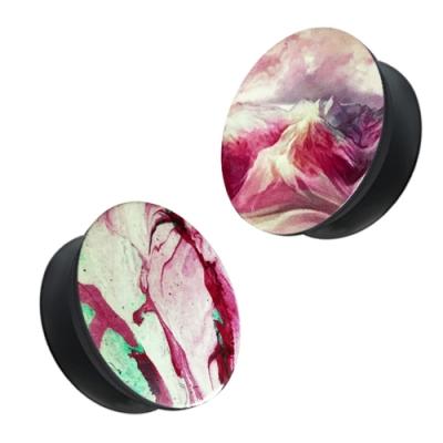 水墨 伸縮氣囊 防摔  手機支架 耳機繞線 支架 桌面支架-粉綠*1