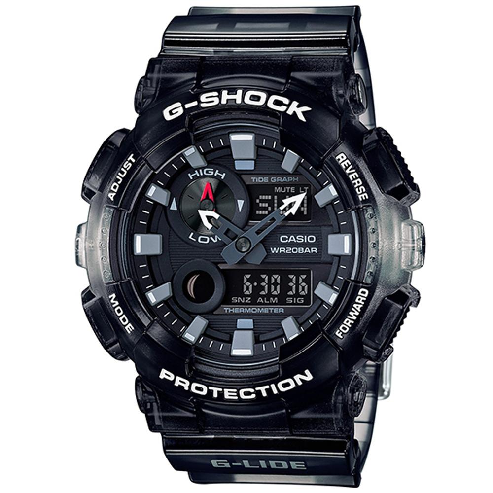 G-SHOCK頂級衝浪極限運動設計漸層果凍運動錶(GAX-100MSB-1)黑/51mm