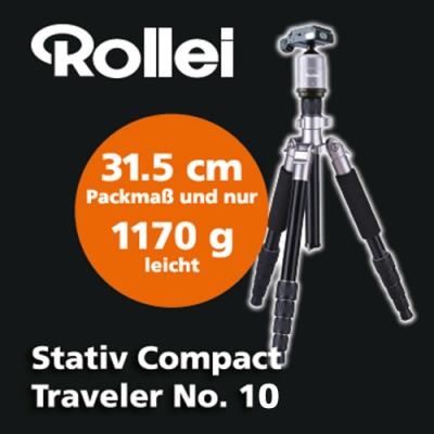 Rollei Stativ Compact Traveler No.10 旅行三腳架