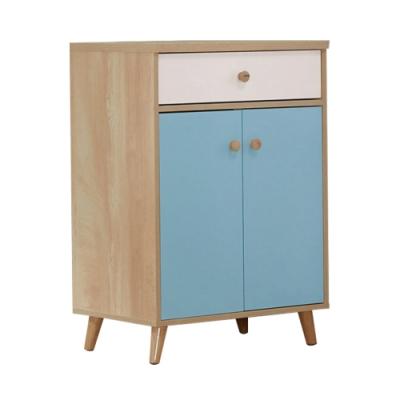 文創集 伊帕卡 現代2尺二門單抽置物櫃/收納櫃-60x40x84cm免組