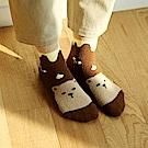 Dailylike 一起冬眠動物睡眠襪-03灰熊