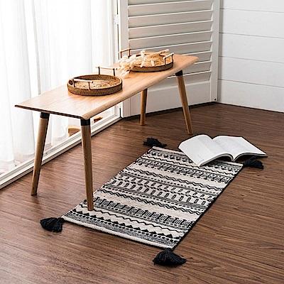 hoi! 帕特爾印度手工編織地毯-圖騰流蘇80x150cm (H014279095)