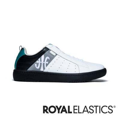 ROYAL ELASTICS ICON2.0 白灰黑真皮潮流運動休閒鞋 (男) 06501-089