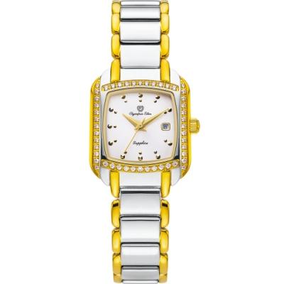 Olympia Star 奧林比亞之星 晶漾時尚石英腕錶 28034DLSK