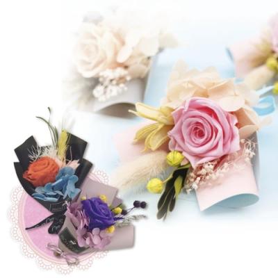 【Incare】永生花束-擴香乾燥芳香花束禮盒組(3色/贈芳香精油)