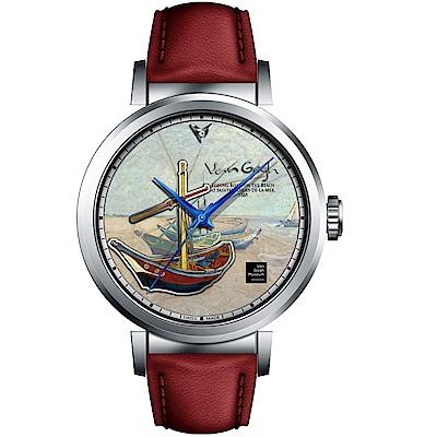 梵谷Van Gogh Swiss Watch梵谷經典名畫女錶(I-SLLF-06)-標誌船