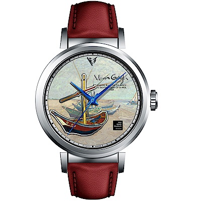 梵谷Van Gogh Swiss Watch梵谷經典名畫男錶(I-SLMF-09)-標誌船
