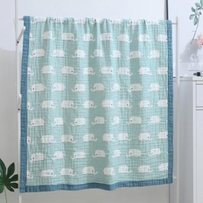 【優貝選】童趣動物多功能純綿柔軟嬰幼兒水洗六層紗 布巾空調毯包巾