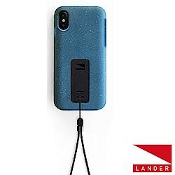 美國 Lander iPhone Xs / X Moab 防摔手機保護殼 - 藍(附手繩)