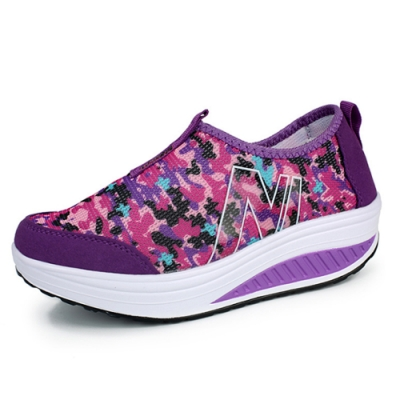 韓國KW美鞋館-零束縛迷彩飛織輕量健走鞋 紫
