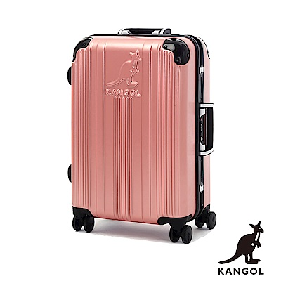 KANGOL-讓世界隨你跳動 80週年紀念款全PC鋁框20吋行李箱 -粉玫