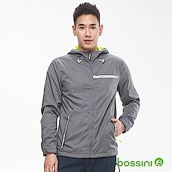bossini男裝-休閒連帽防風外套02灰色