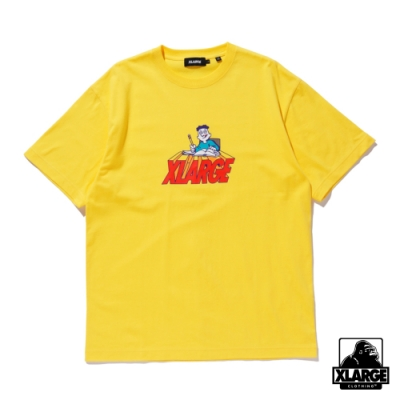 XLARGE S/S TEE BACK TO SCHOOL 短袖T恤-黃