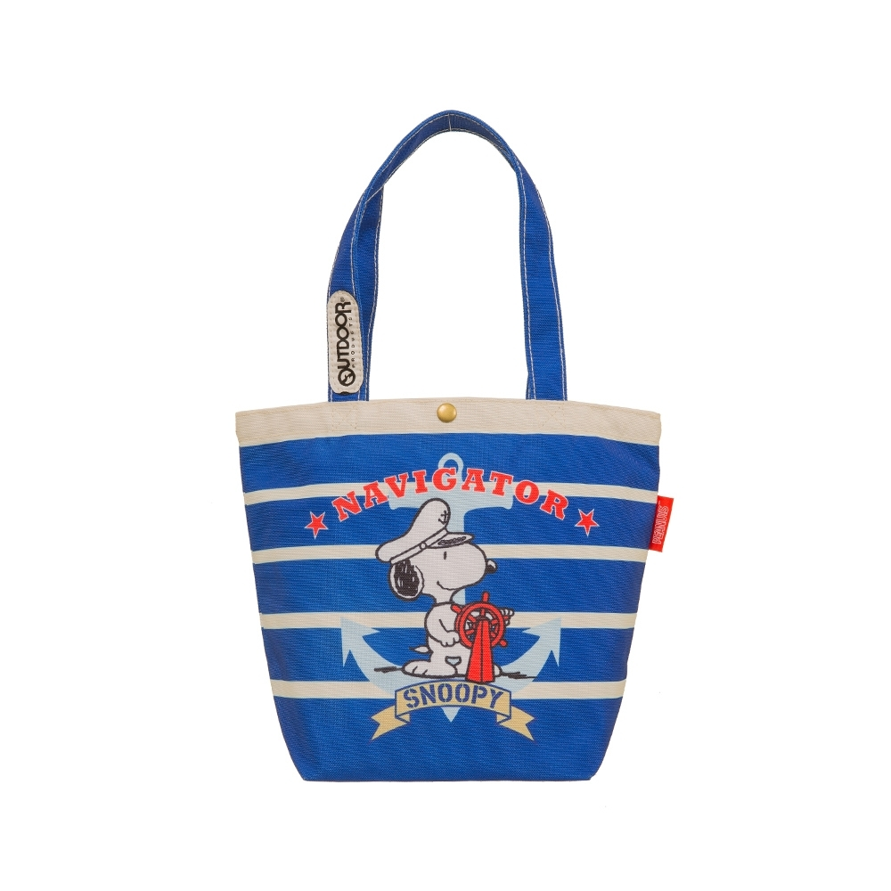 【OUTDOOR】SNOOPY聯名款購物袋-海軍藍 ODP19F05NY