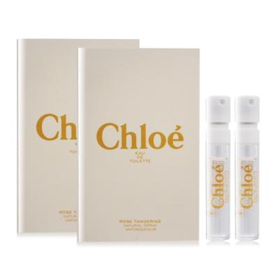 Chloe 沁漾玫瑰女性淡香水 Rose Tangerine 1.2ml X2 EDT-隨身針管試香
