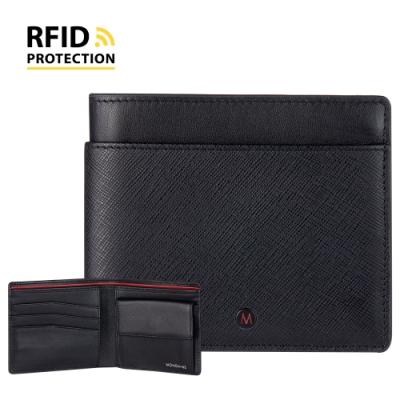 MONDAINE 瑞士國鐵 蘇黎世系列 RFID防盜 8卡零錢包短夾 - 十字紋