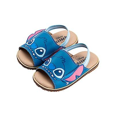 迪士尼童鞋 史迪奇 立體造型寶寶涼鞋-藍
