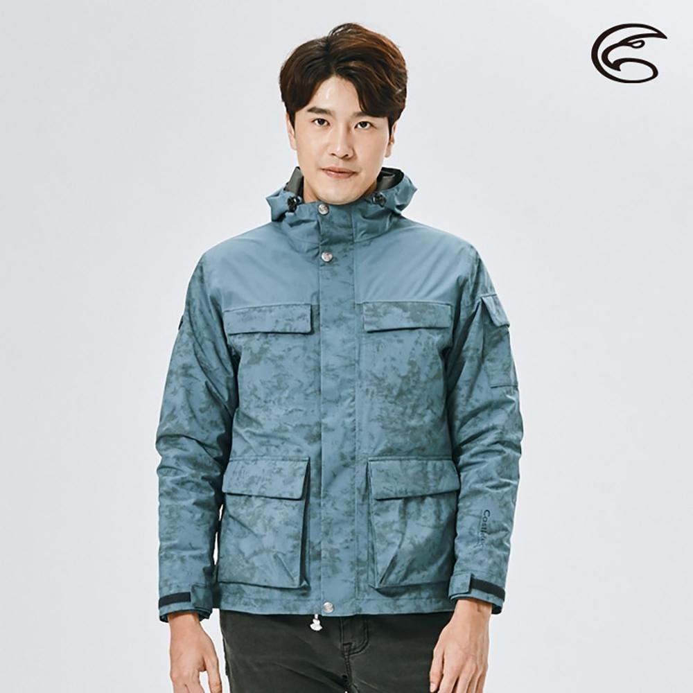 ADISI 男二件式防水透氣保暖外套(內件羽絨) AJ2021015 復古藍/深藍