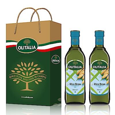 Olitalia奧利塔 玄米油禮盒組(750mlx2瓶)