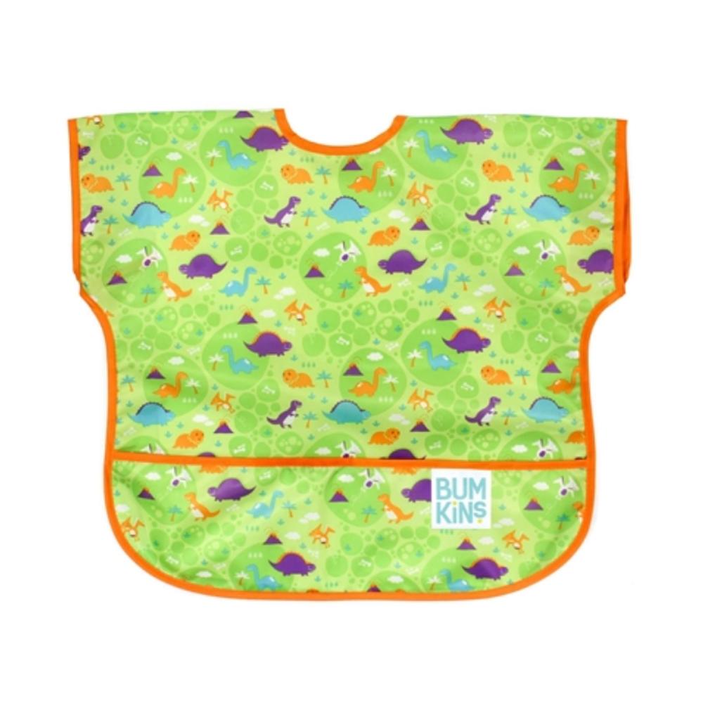 【美國Bumkins】兒童短袖防水圍兜 -買一送一(贈品款式隨機)