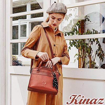 KINAZ x PEANUTS™ 希望羽翼兩用斜背包-西柚橘紅-勇敢愛系列