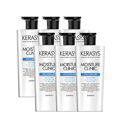 Kerasys可瑞絲 植萃系抗損洗髮精600ml-毛躁髮(6入團購組)