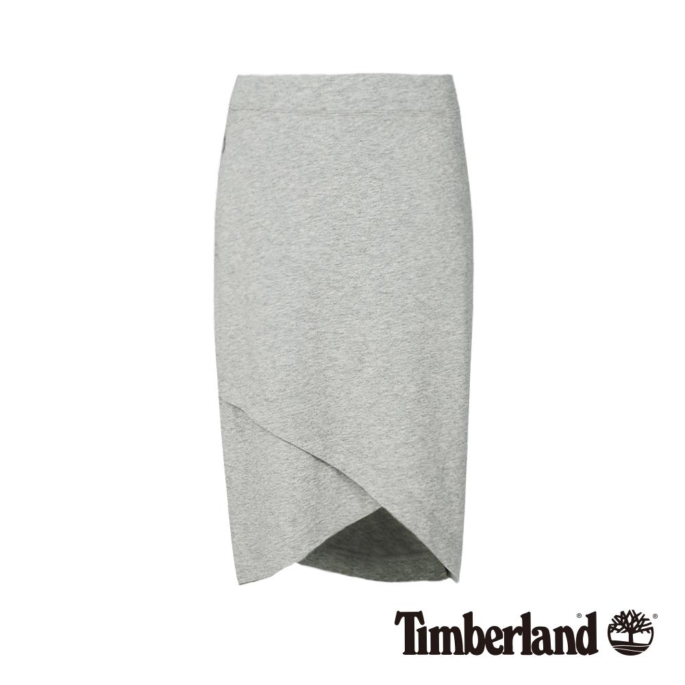 Timberland 女款淺灰色石南花編織款裹裙|B3306