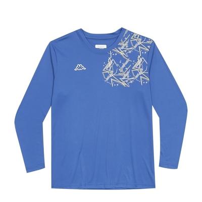 KAPPA義大利 時尚男吸溼排汗圓領衫 經典藍 321G17W00X