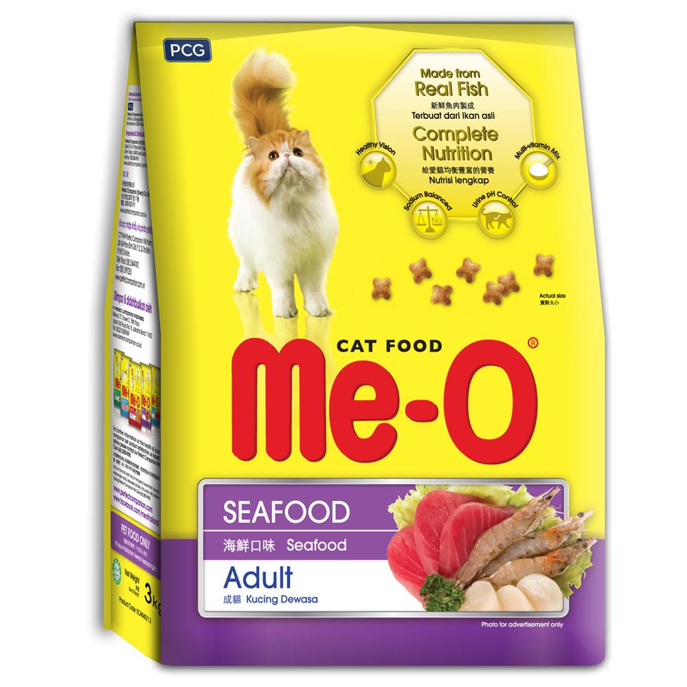 Me-O 咪歐乾貓糧 - 海鮮口味 3kg