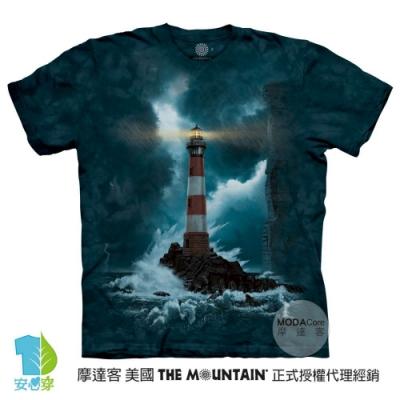 摩達客-美國進口The Mountain 無畏燈塔 純棉環保藝術中性短袖T恤