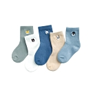 Baby童衣 兒童襪子 五雙入 可愛動物刺繡頭童襪 88263(共三款)