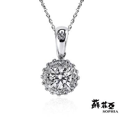 蘇菲亞SOPHIA 鑽石項鍊-鍾愛0.30克拉FVS2鑽鍊