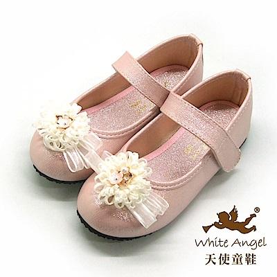天使童鞋 歐風花園典雅公主鞋(中-大童)917-粉