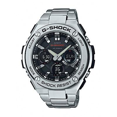 G-SHOCK絕對強悍分層防護構造防震概念休閒不銹鋼錶(GST-S110D-1A)黑面53
