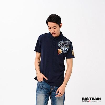 BIG TRAIN 登龍波鯉POLO衫-男-深藍