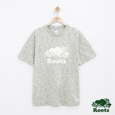 男裝Roots 庫柏海狸段染短袖T恤-綠