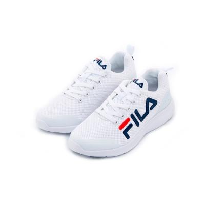 FILA 女性輕量慢跑鞋-白 5-J906T-113