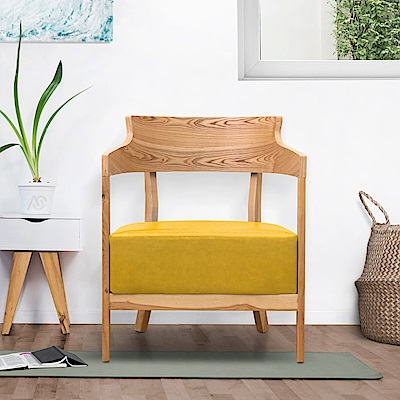 AS-曼蒂單人休閒椅(黃色)-62.5x59x78cm