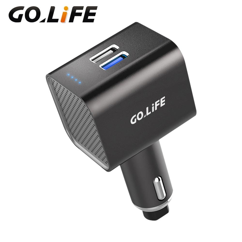 【GOLiFE】GoPure 多功能車用負離子空氣清淨器(清淨器、充電、擊破器)