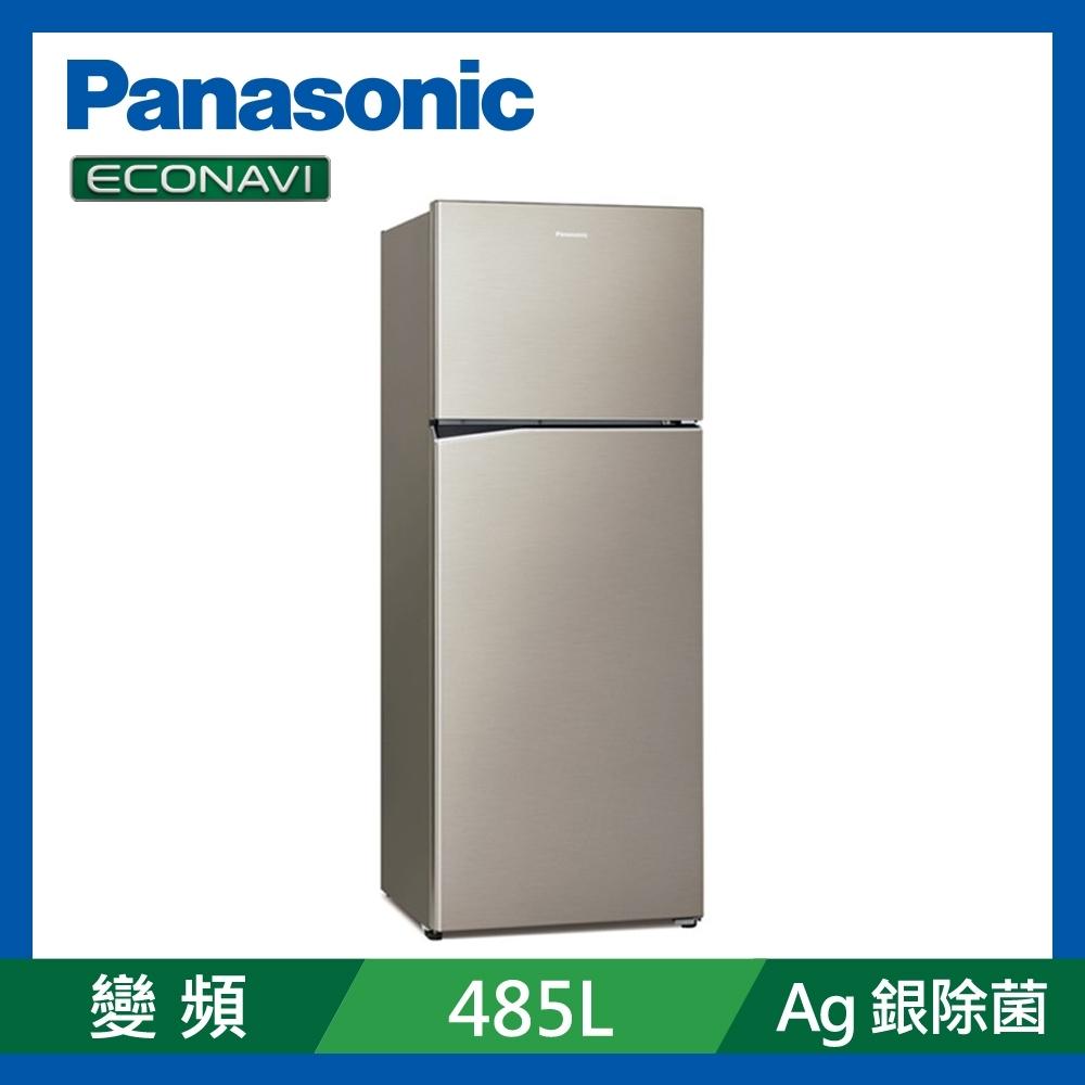 [館長推薦] Panasonic國際牌 485L 變頻2門電冰箱 NR-B480TV-S1 星曜金