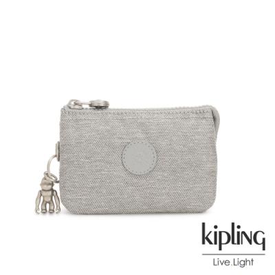 Kipling 清新柔和丹寧灰三夾層配件包-CREATIVITY S