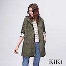 KiKi INLook 童趣感隱藏版印花軍裝外套(軍綠色)