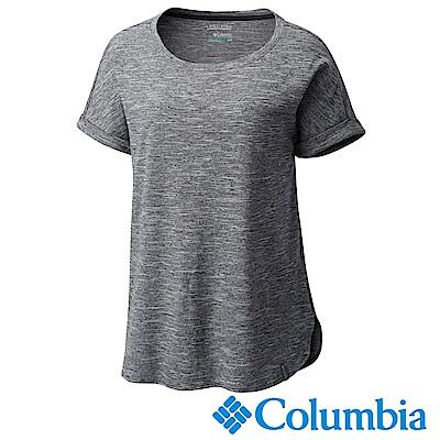 Columbia哥倫比亞 女款-快排短袖上衣 黑色 UAK19560BK