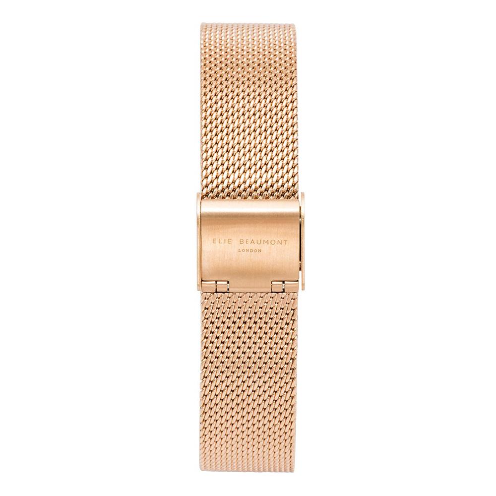 Elie Beaumont 英國時尚手錶 玫瑰金色錶扣米蘭替換錶帶 16mm