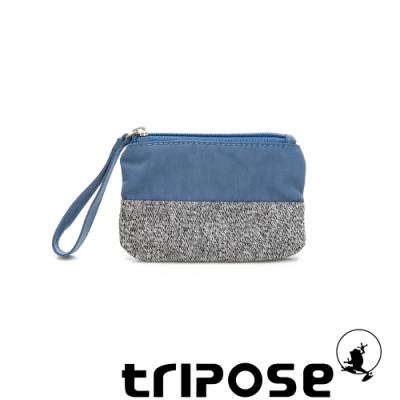 tripose漫遊系列岩紋x微皺尼龍多功能手拎袋(小)水藍
