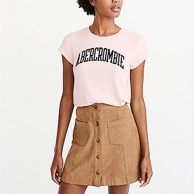 A&F 經典貼字設計短袖T恤(女)-粉色 AF Abercrombie