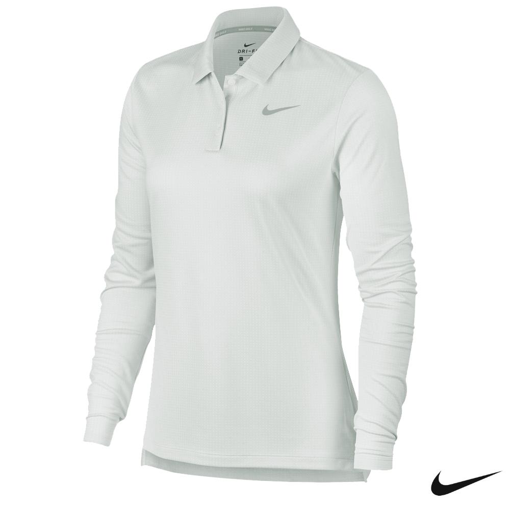 Nike 女子高爾夫長袖Polo 淺灰 929536-100