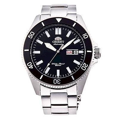 ORIENT東方200m潛水機械錶手錶RA-AA0008B-黑X銀/44mm