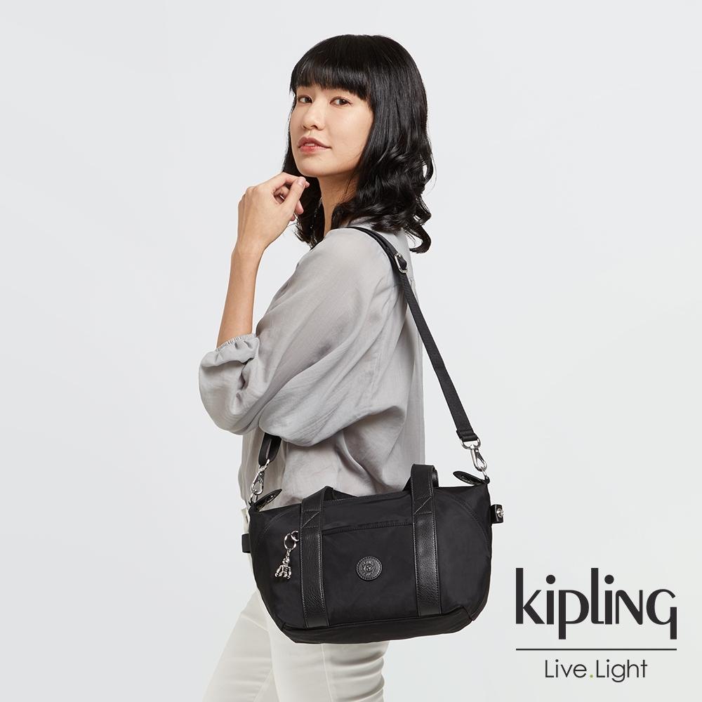 Kipling 低調沉穩黑手提側背包-ART MINI