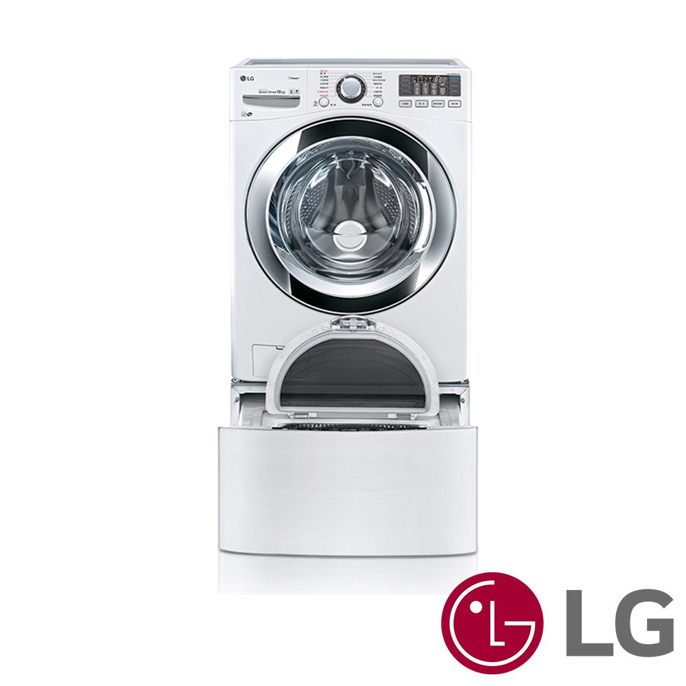 [無卡分期12期] LG樂金 18KG+2.5KG TWINWash 洗衣機 WD-S18VBW